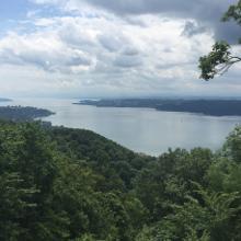 Blick vom Haldenhof auf den Bodensee