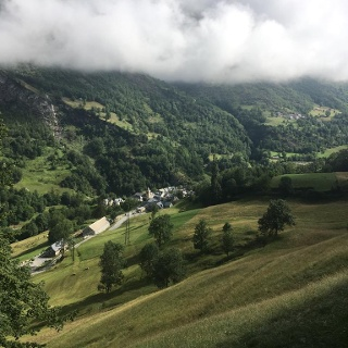 View of Viella and valley