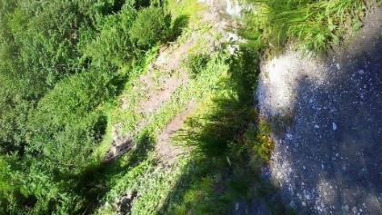 Vom Erdrutsch zerstört: Der Weg am Ferchenbach Richtung Elmau