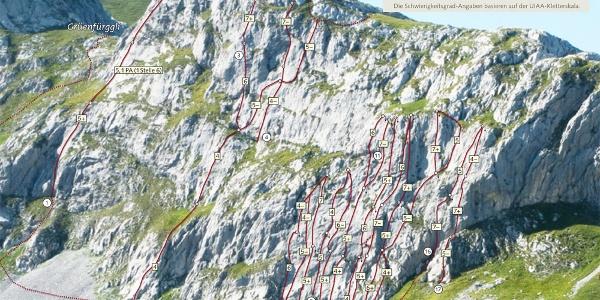 Klettergarten Gruoben, Grüenwändli