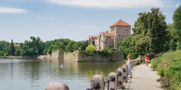 Die Burg von Tata am Alten-See