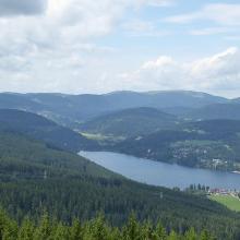 Böick vom Hochfirstturm auf Titisee und Feldberg