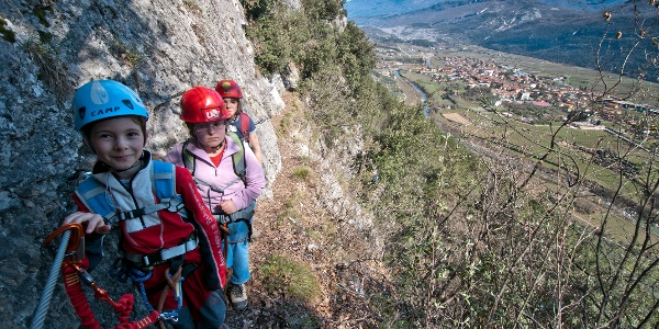 Sentiero degli Scaloni, view on the Sarca Valley