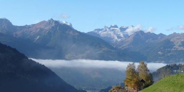 Aussicht Westen über dem Nebel