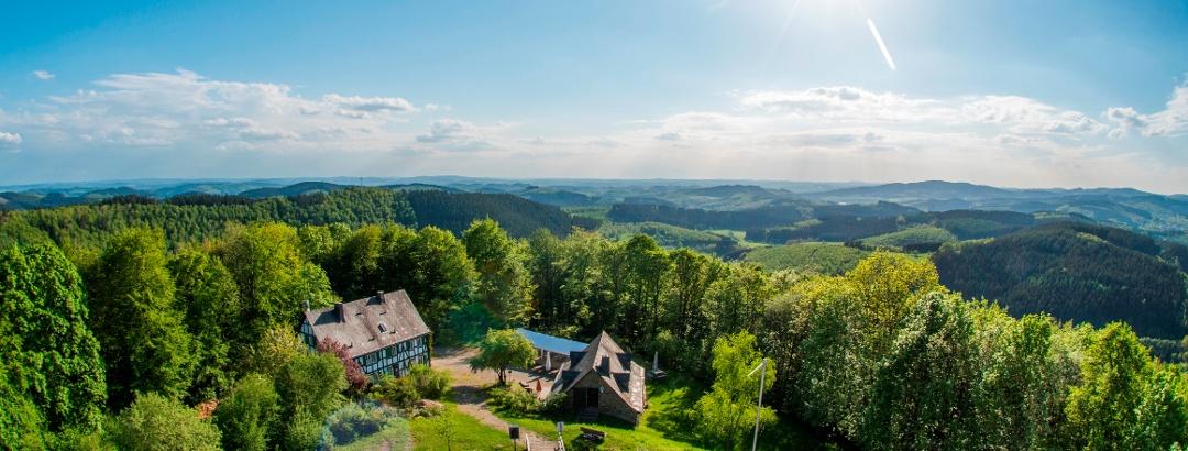 Hilchenbach uitzicht vanaf de Ginsburg