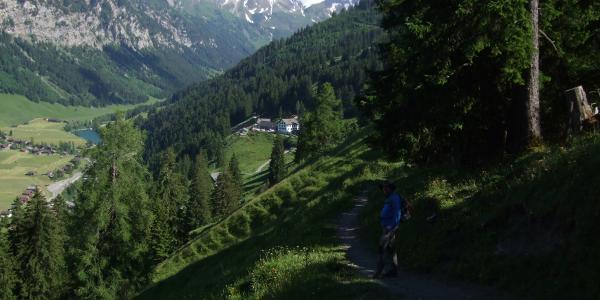 Abstieg zum Berggasthaus Sücka
