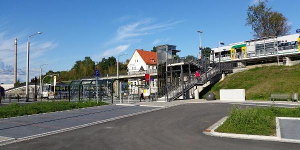 Blick auf den Bahnhof Mitte
