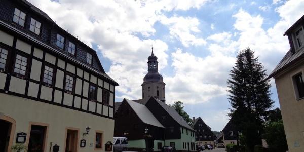 Ortsmitte Altenberg ST Geising Kammtour Erzgebirge