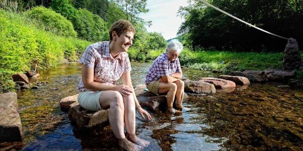 Mal die Füße entspannen in der Teinach