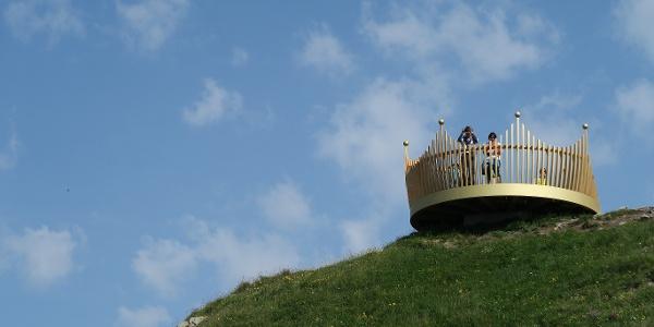 Kronenförmige Aussichtsplattform auf dem Männlichen.