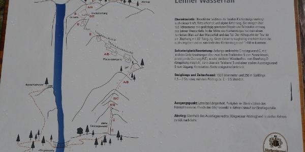 Übersichtstafel Lhenrer Klettersteig