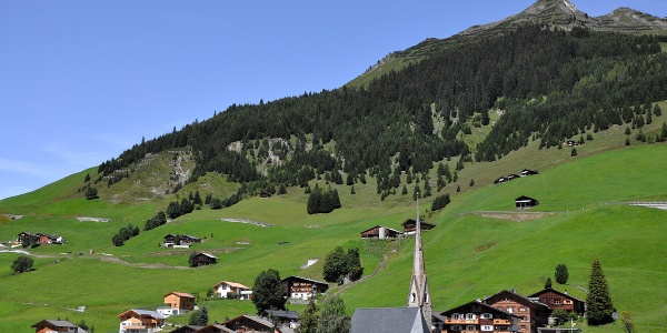 Das Walserdorf St. Antönien auf 1450 Meter ü.M.