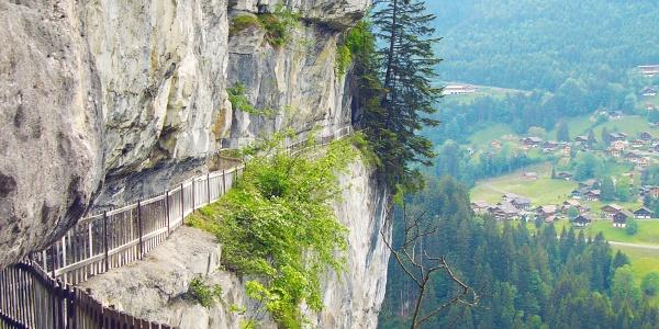 Galerie Défago beim Abstieg vom Klettersteig Tière.