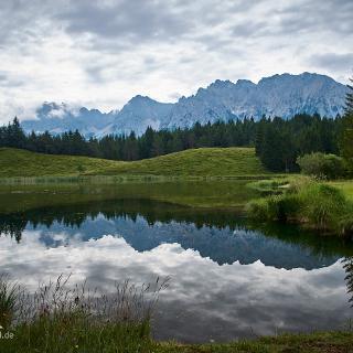 Wildensee mit Karwendelblick.
