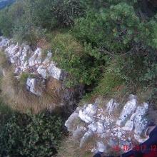 Felsspalte auf dem Weg zur Cima Nara