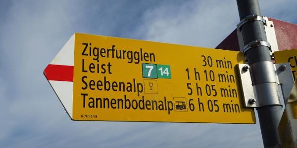 Die 7-Gipfel- und 14-Seenblick-Tour ist bestens markiert.