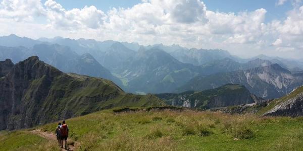 Ausblick auf den Dalfazkamm