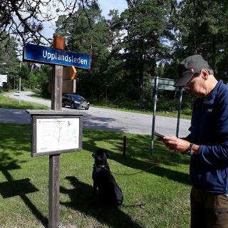 Informationsskylt vid Parkeringen i Älvkarleby