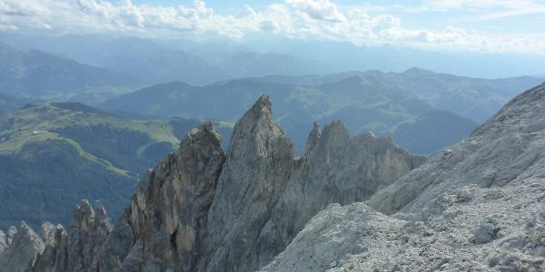Blick zum Königsjodler Klettersteig