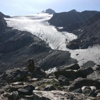 Gletscherblick von der Similaunhütte