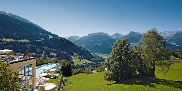 Blick über die Dächer von Schruns - ferienhotel.at