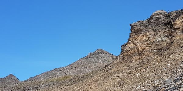 Der Gipfel, beim Aufstieg gesehen