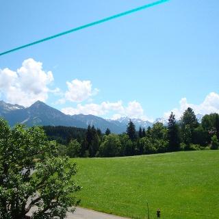 Blick von Untermühlegg auf den Allgäuer Alpen-Hauptkamm
