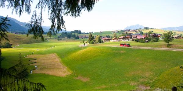 Blick vom Sagenweg in Obermaiselstein