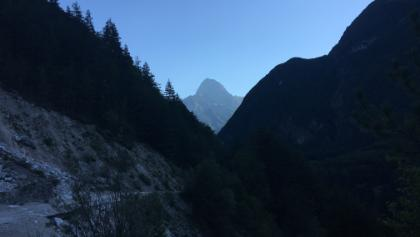 Moznica valley with view in Mangart