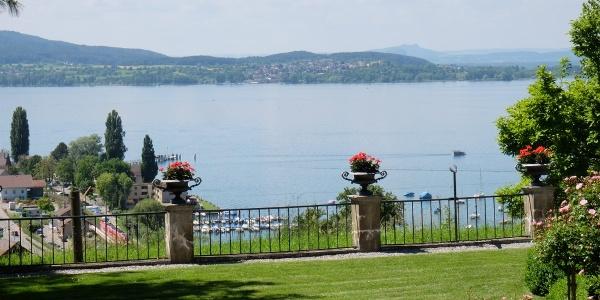 Blick vom Schloss Arenenberg auf den Untersee