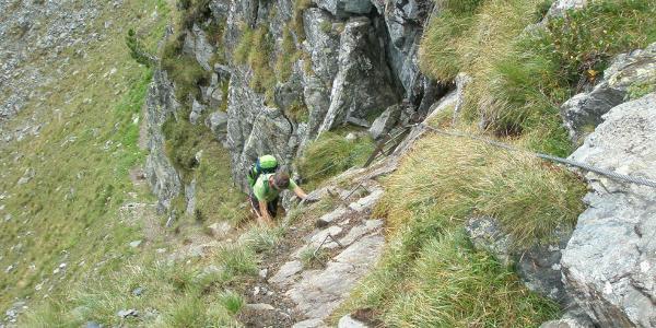 Kletterstelle im Stierkar