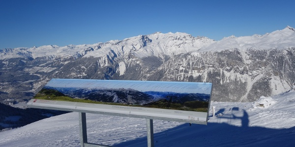 Panoramatafel am höchsten Punkt der Tour