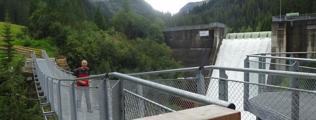 Hangbrug aan de Verwall Stausee