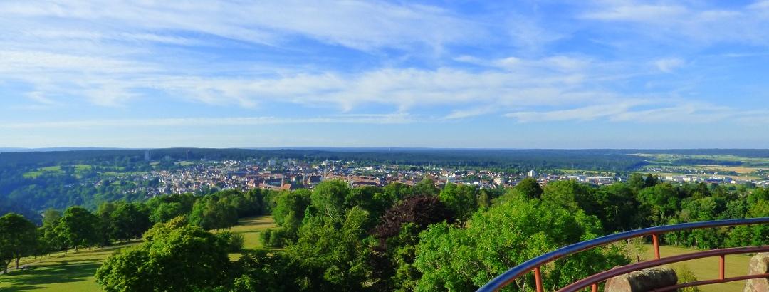 Blick vom Friedrichsturm in Freudenstadt im Schwarzwald