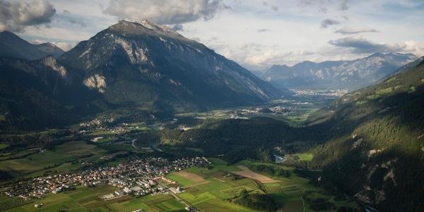 Churer Rheintal aus der Vogelperspektive
