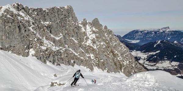Skitour Hochalm Abfahrt