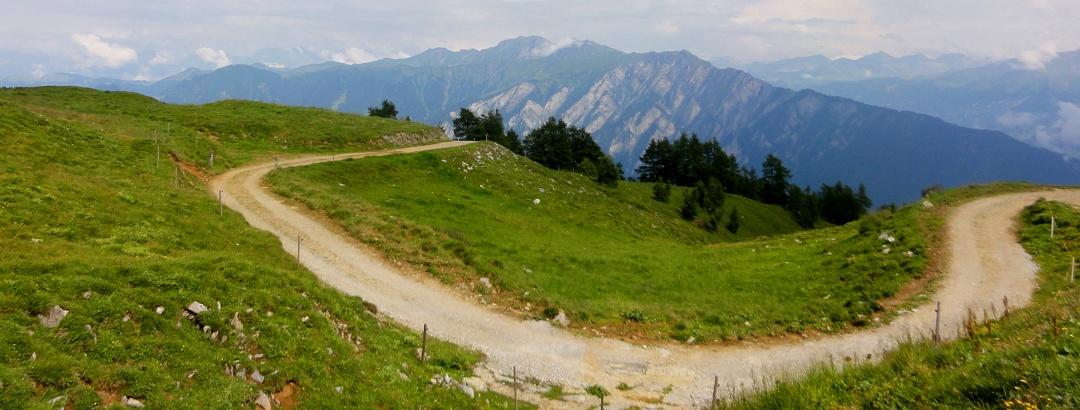Aussicht kurz vor der Calandahütte