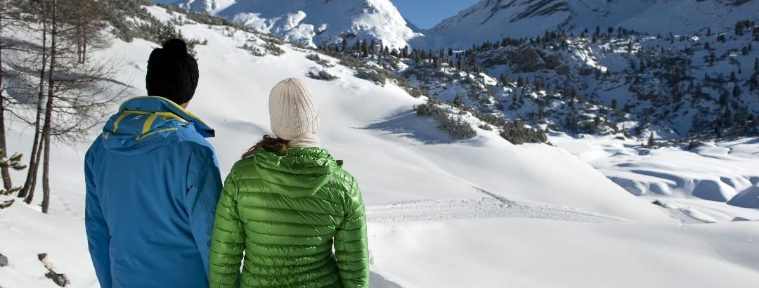 Winterwandern auf gut präparierten Wegen