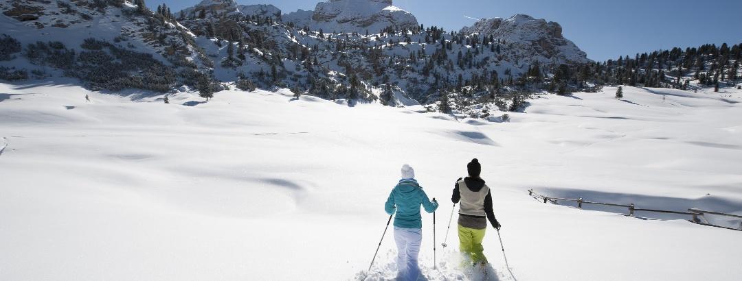 Schneeschuhtour durch unberührtes Gelände