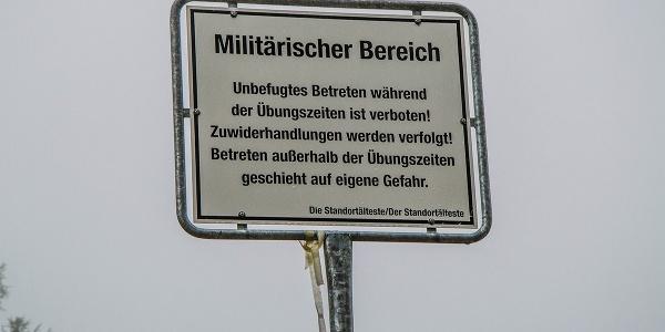 Bundeswehr Gebirgsübungsplatz auf der Reiter Alm