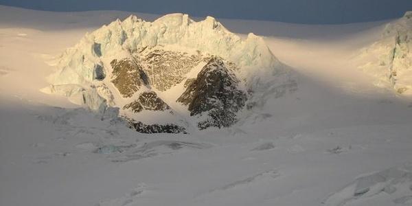 Im Aufstieg Richtung Gletscherrinnen