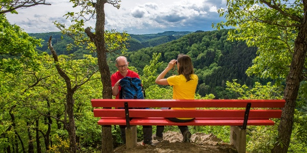 Blick ins Tal an der Roten Bank