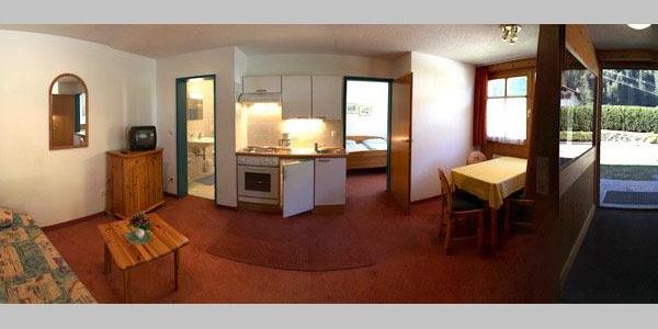 Appartements Erdgeschoss 37 qm (Fischaugenoptik)