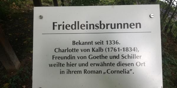 Information am Friedleinsbrunnen
