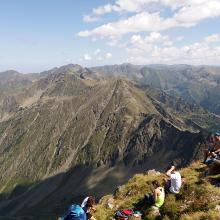 Blick vom Negoiu-Gipfel