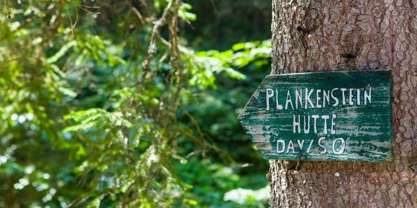 Wegweiser zur Blankensteinhütte