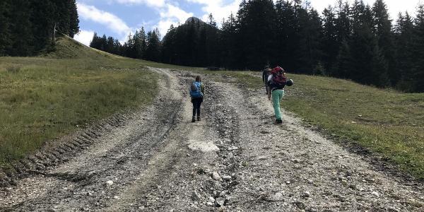 Aufstieg zum Füssener Jöchle