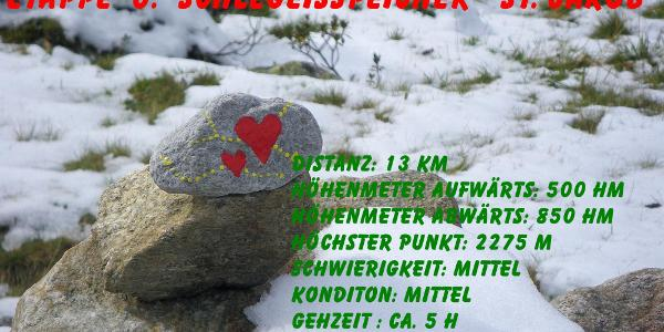 ... die Alpenüberquerung: Schlegeisstausee - St. Jakob