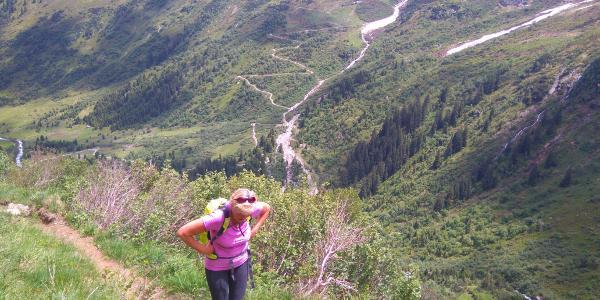 Steiler Aufstieg, Aussicht wunderschön