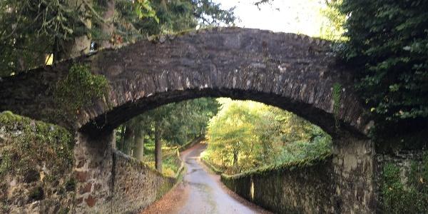 Old Blair footbridge over the road